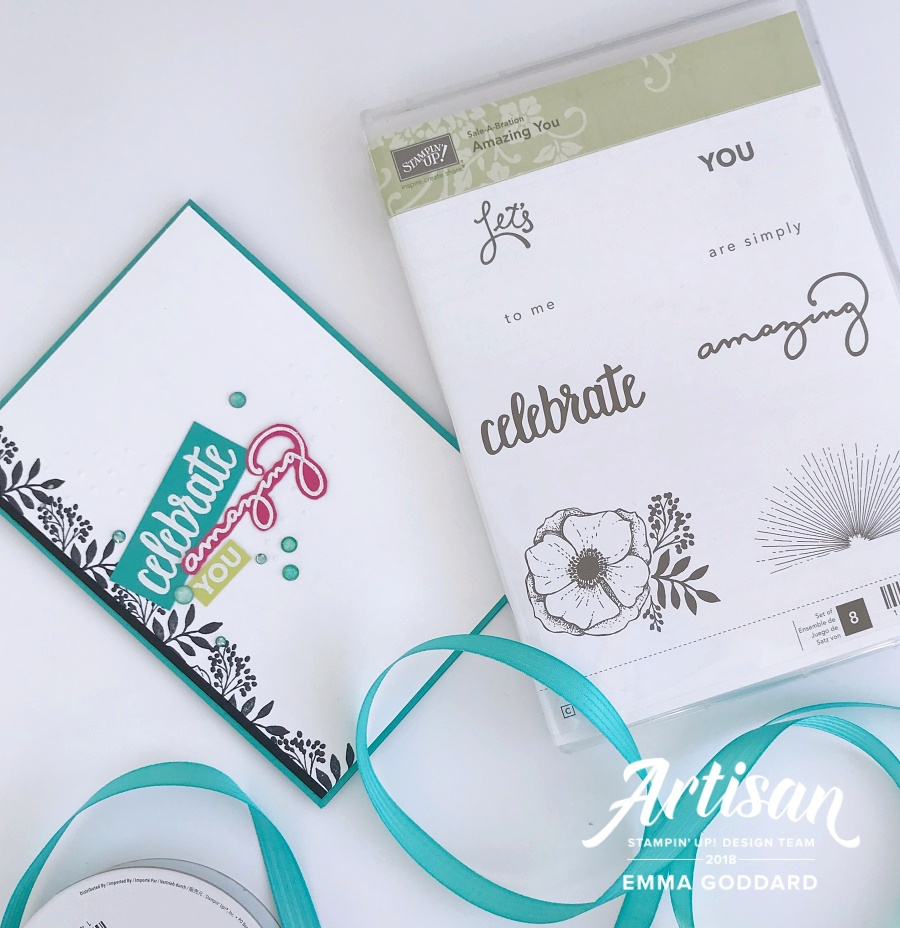 Amazing You is a great set for different occasions with the sunburst and sentiments giving you options for more masculine cards