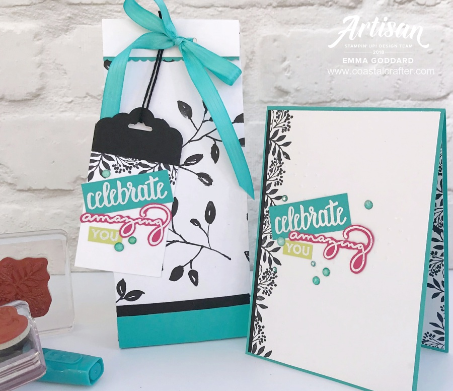 Coordinating Gift Bag to match with the Amazing You cards