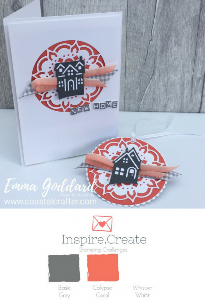 Inspire.Create Challenge new home card using the Hearts Come Home bundle, perfect for any occasion!