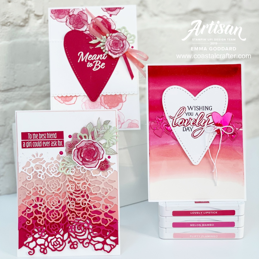 All My Love valentines cards by Emma Goddard Artisan Designer 2019 Stampin' Up! Demonstrator in the UK www.coastalcrafter.com #coastalcrafter #stampinup #papercraft
