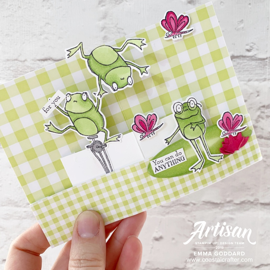 So Hoppy Together using Hop Around Framelits Dies by Emma Goddard Artisan Design Team Member 2019 - Stampin' Up! Demonstrator in the UK www.coastalcrafter.com #coastalcrafter #ADT #artisandesignteam2019 #stampinup #papercraft #hoparound #sohoppytogether #sab2019