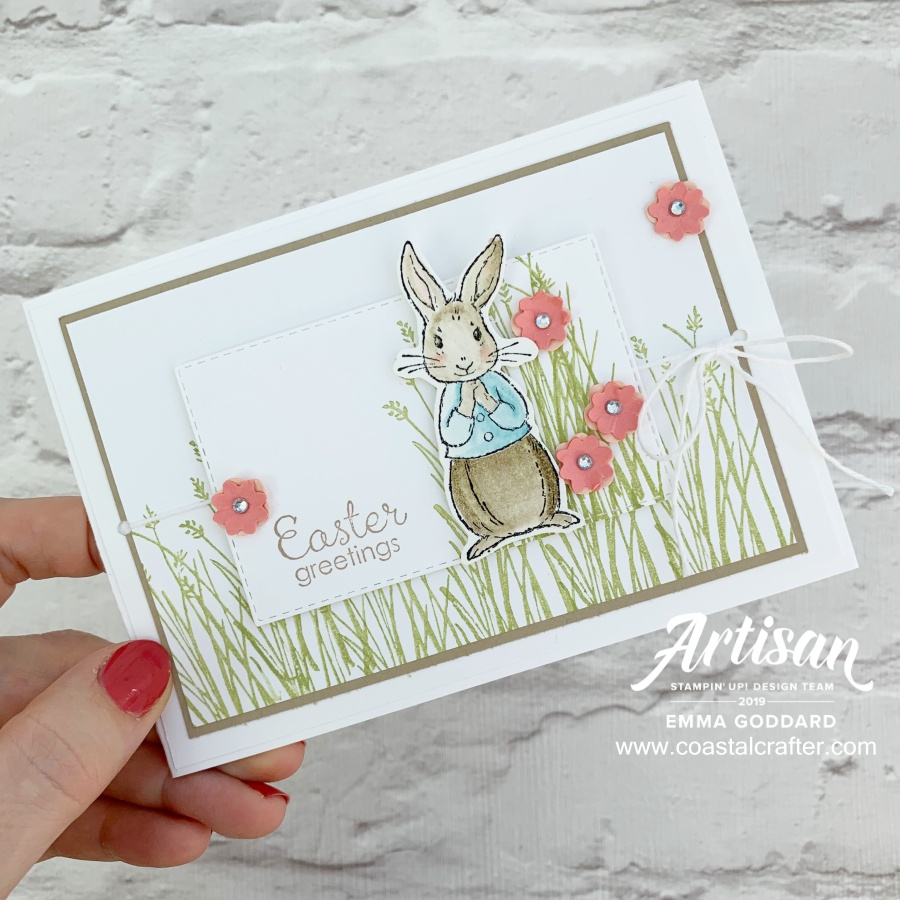 Fable Friends Easter Card, created by Emma Goddard - Artisan Design Team Member 2019 Stampin' Up! Demonstrator in the UK www.coastalcrafter.com #coastalcrafter #stampinup #papercraft #allstartutorialbundle #tutorialbundle