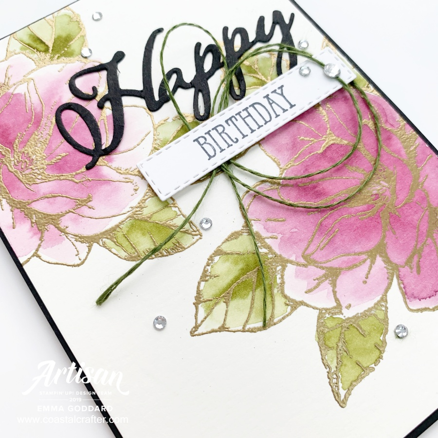 Good Morning Magnolia card created by Emma Goddard, Independent Stampin' Up! Demo UK & Artisan Design Team Member 2019. #stampinup #adt #magnolia #goodmorningmagnolia #shoponline #happybirthday #flowers #handmade