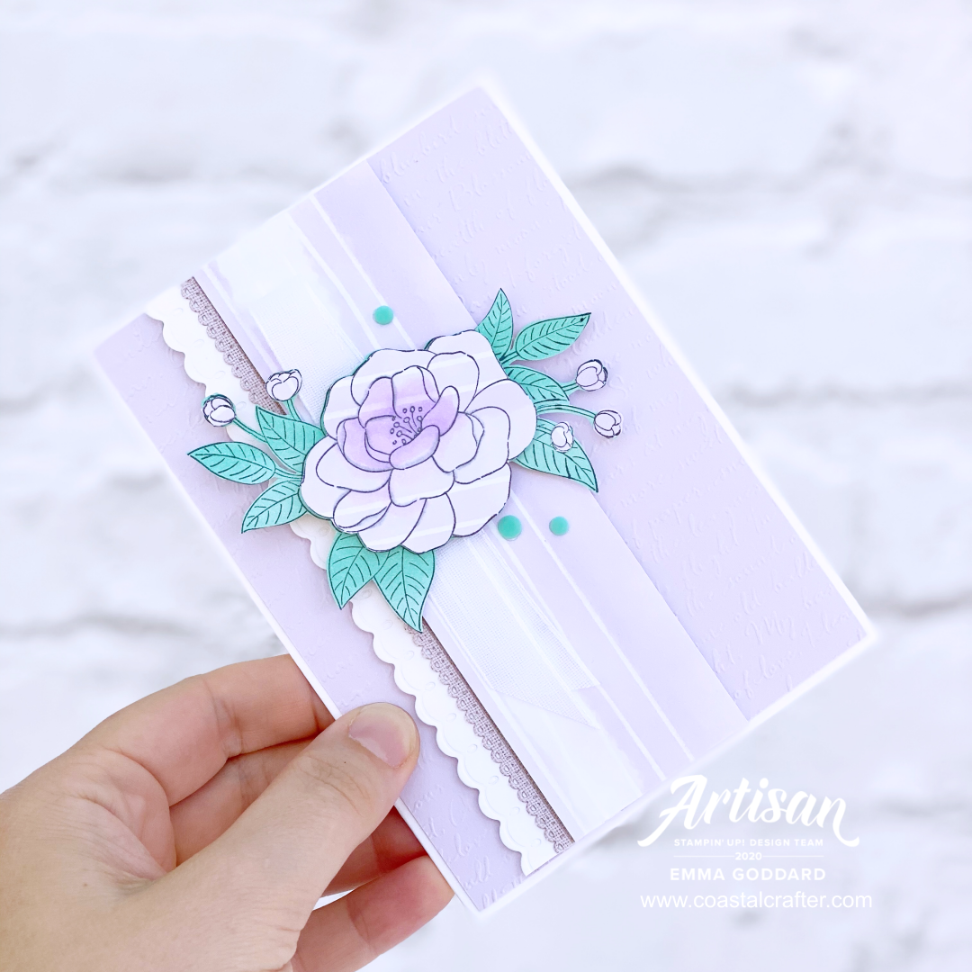 Emma Goddard, Independent Stampin' Up! Demonstrator UK, Artisan Design Team Member 2020, So Much Love Stamp Set, Stampin' Up! Product, Flowers, Paper Piecing