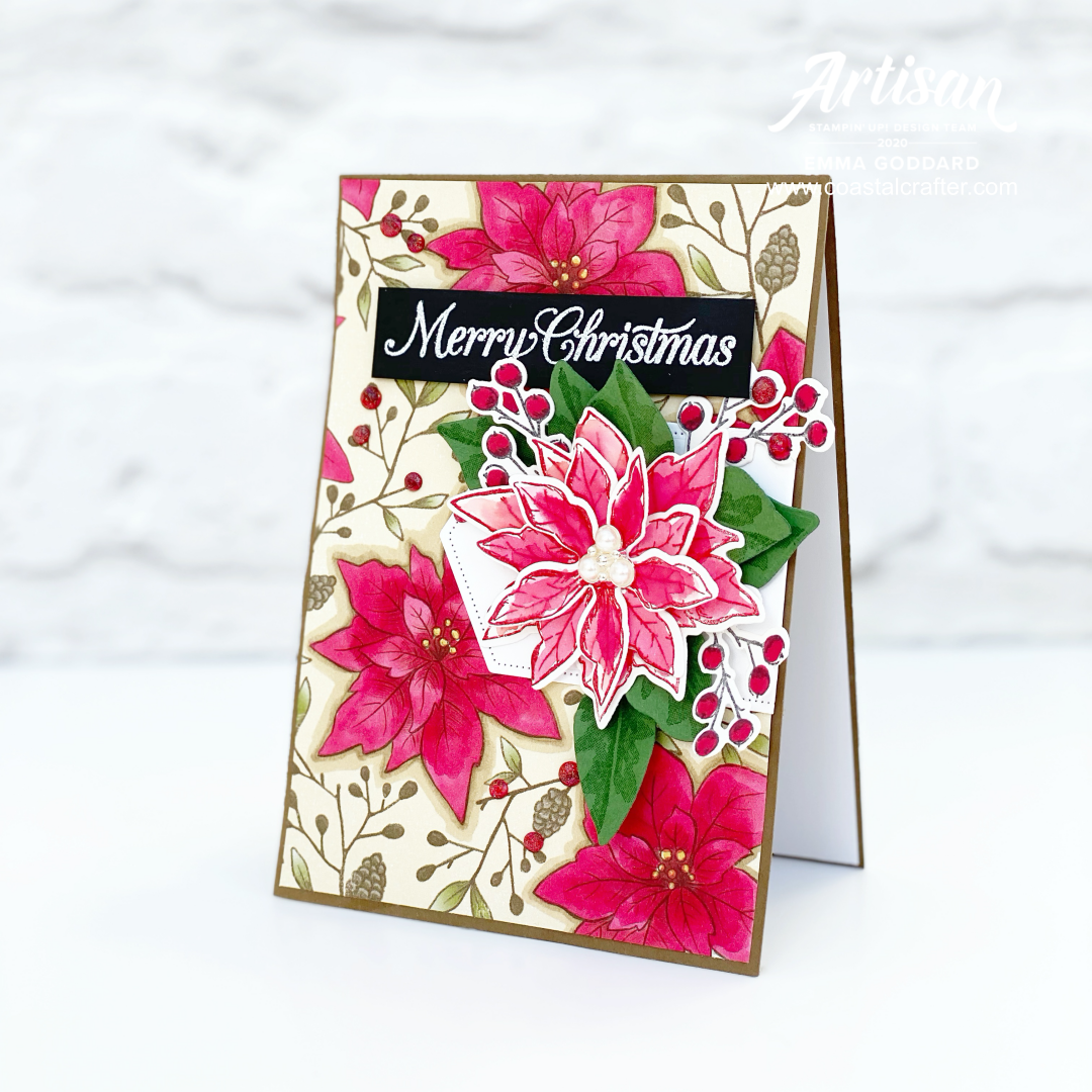 By colouring onto your patterned  paper with Blends, you can alter the look of the original paper