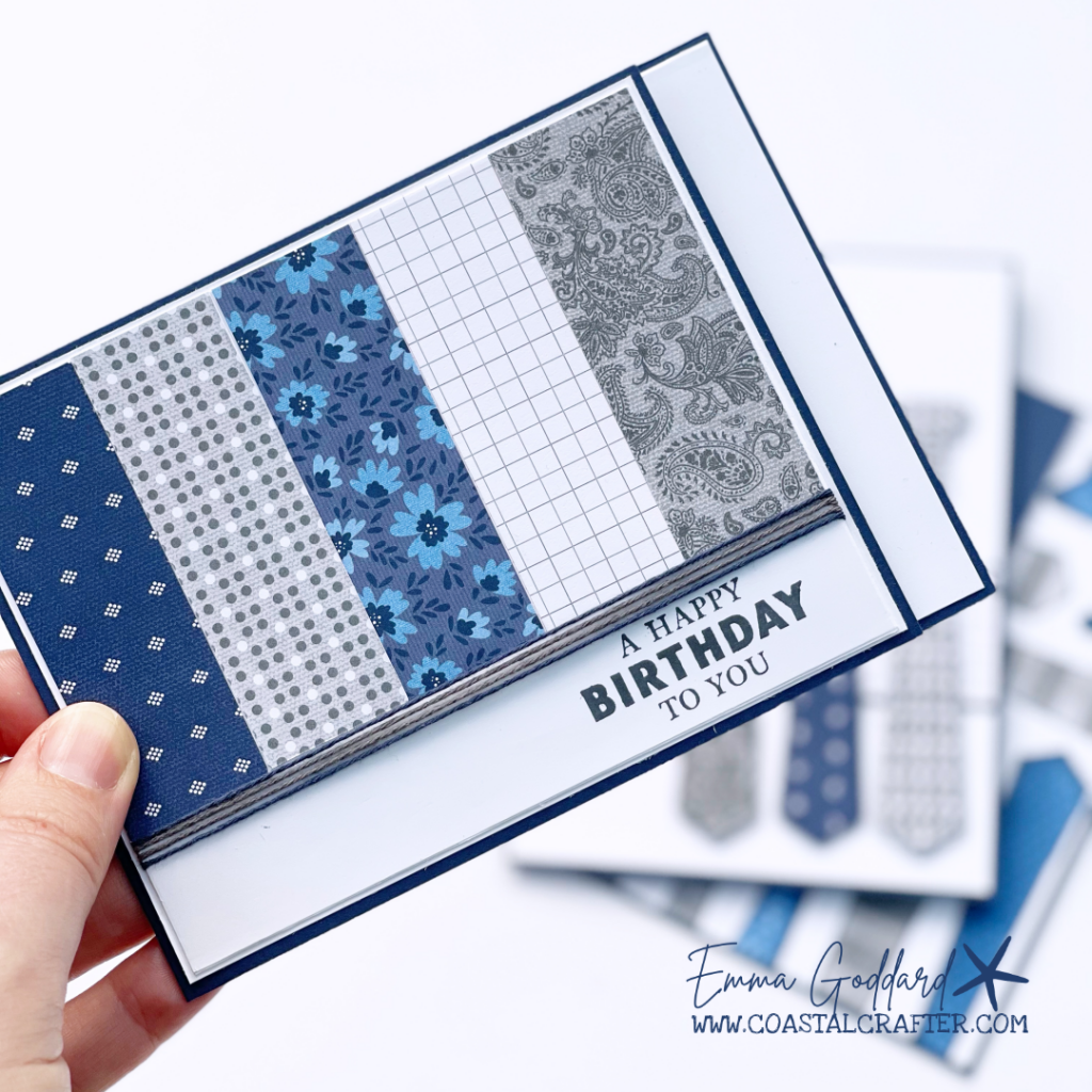 A card using the Well Suited designer paper