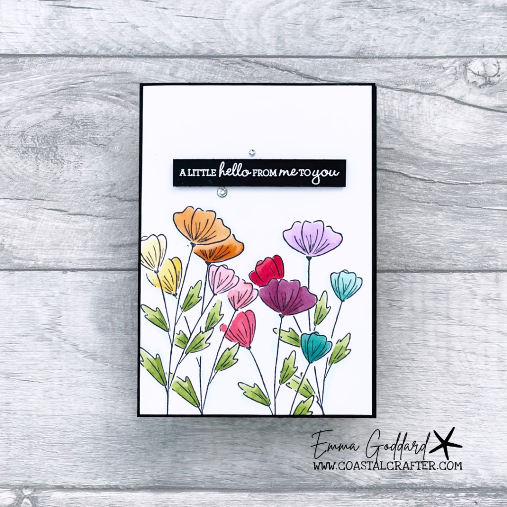 Rainbow of flowers using the Stampin' Blends