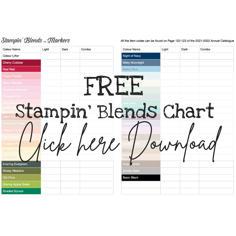 Stampin' Blends Chart